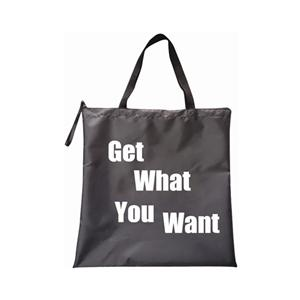 New Products 420D Polyester Tote Shopping Bag Shopper with zipper