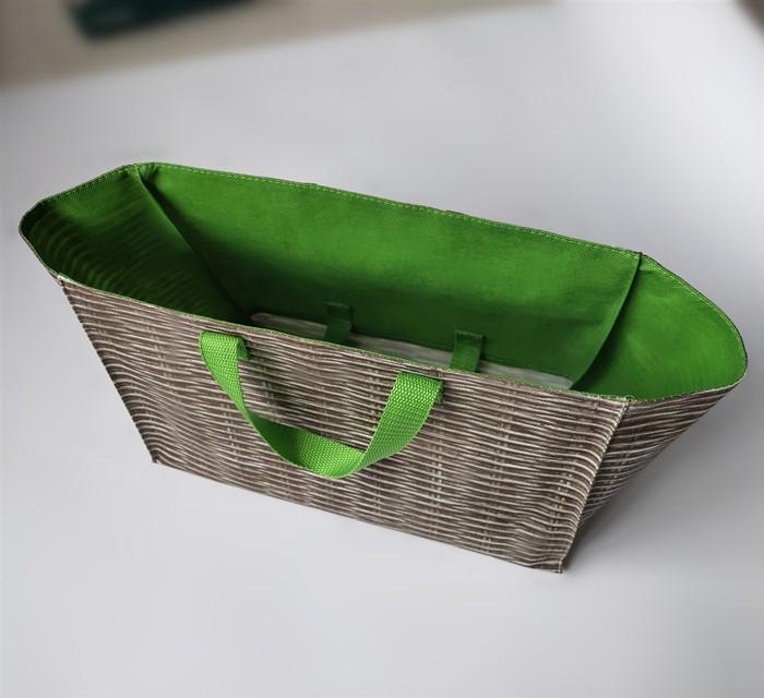 Wholesale Customized Splicing Eco Shopper Double Layer Nonwoven shopping bag, Customized Splicing Eco Shopper Double Layer Nonwoven shopping bag Manufacturers, Customized Splicing Eco Shopper Double Layer Nonwoven shopping bag Producers