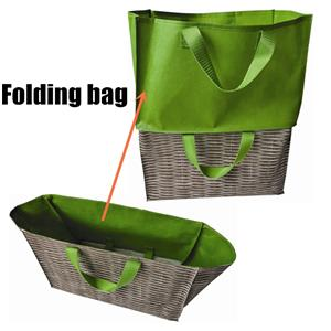 Customized Splicing Eco Shopper Double Layer Nonwoven shopping bag