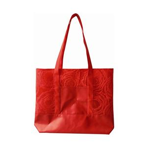 New Product Non Woven With PU Pocket Tote Shopping Bag Shopper