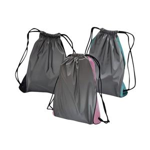Reflective Polyester Nylon Safe Drawstring Bag