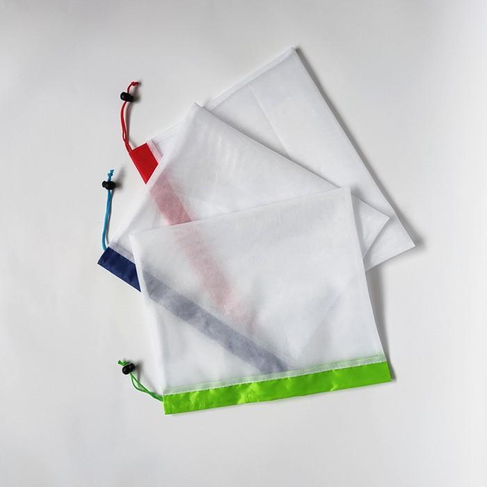 White drawstring bag