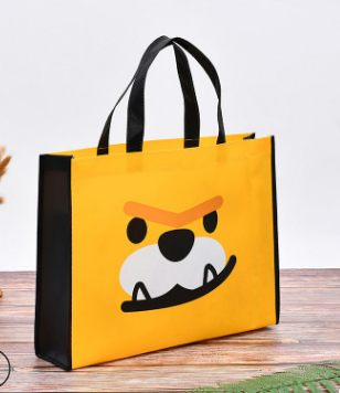 Wholesales custom logo laminated non woven shopping bag