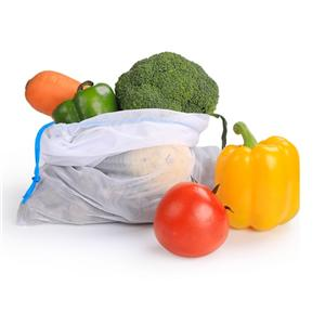 New Product Drawstring Bags Set of 3pcs, Reusable Mesh Produce Bags and Food Storage