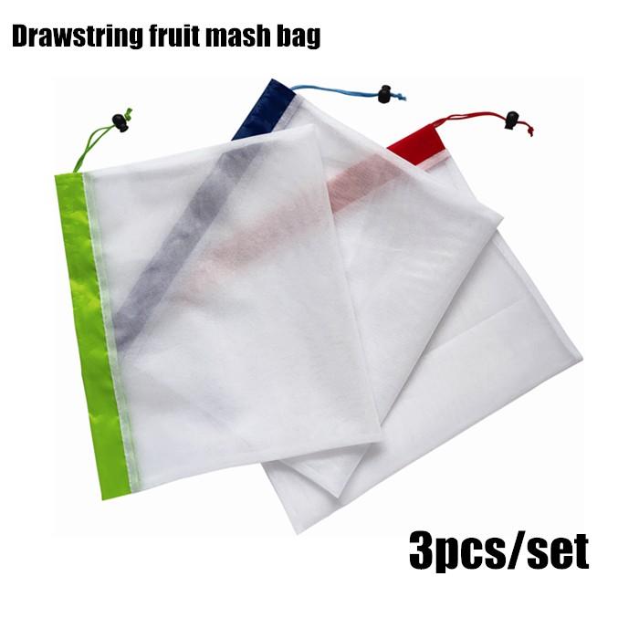Drawstring Reusable Fruit Mesh Bag