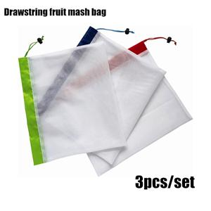Drawstring Reusable Fruit Mesh Bag