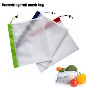 Single Rope Drawstring Reusable Fruit Mash Shopping Bag