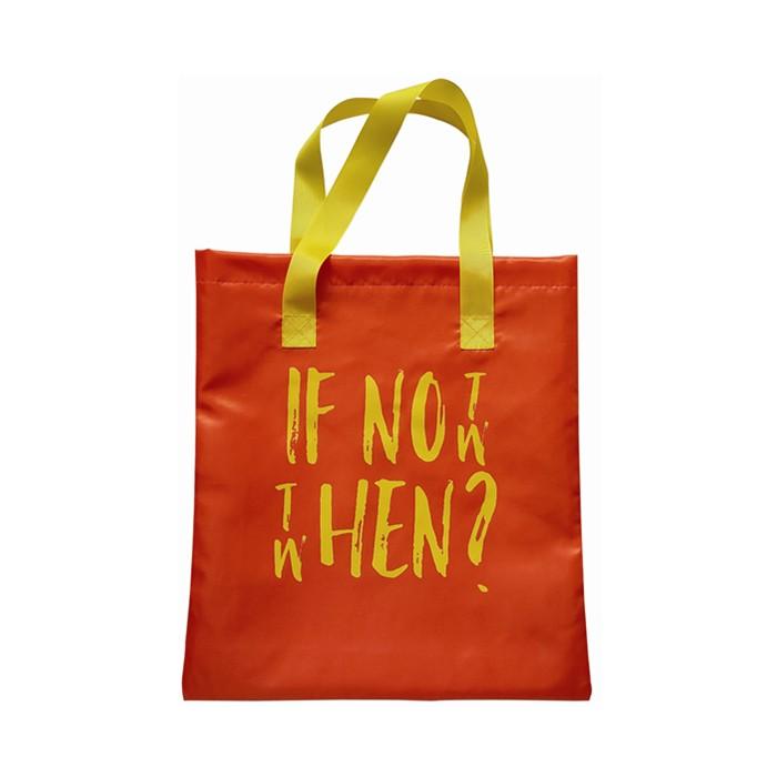Orange Polyester Shopping Bag Shopper