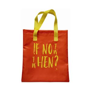 Orange Polyester Shopping Bag Shopper