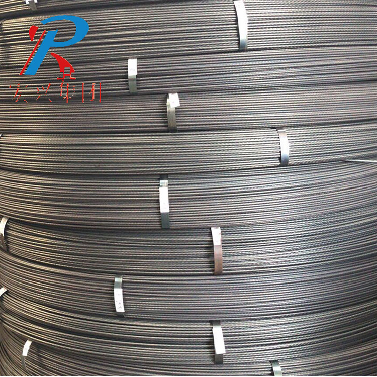 Pc Steel Wire With Spiral Ribbed On Surface