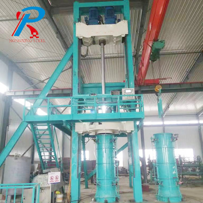 Radial extrusion cement pipe machine