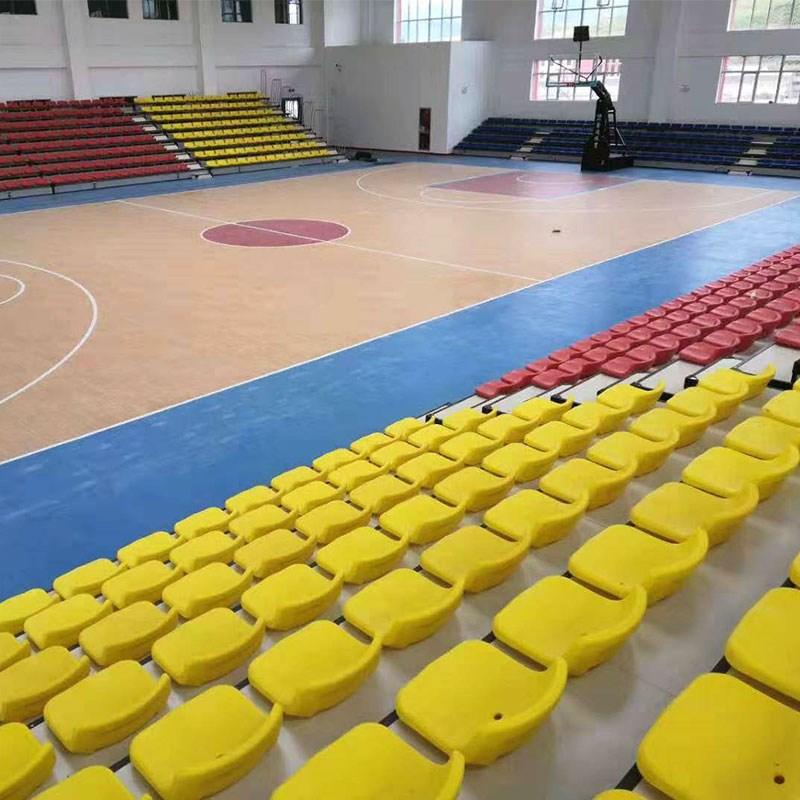 Gymnasium activities retractable grandstand chairs