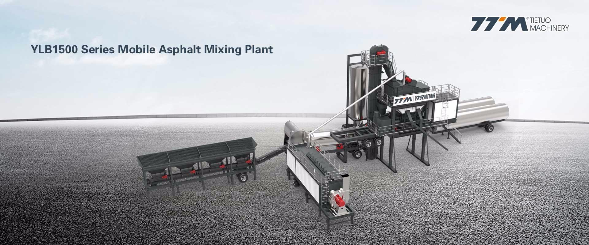 Planta mezcladora de asfalto móvil