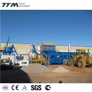 Usina de mistura de asfalto portátil