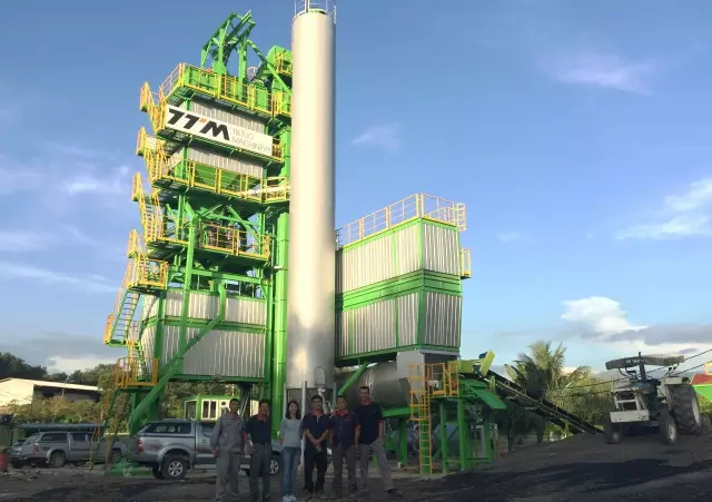 Ttm Company GLB3000 Asphalt Mixing Plant Moved Into The Countries Along The Belt And Road Initiative —— Malaysia