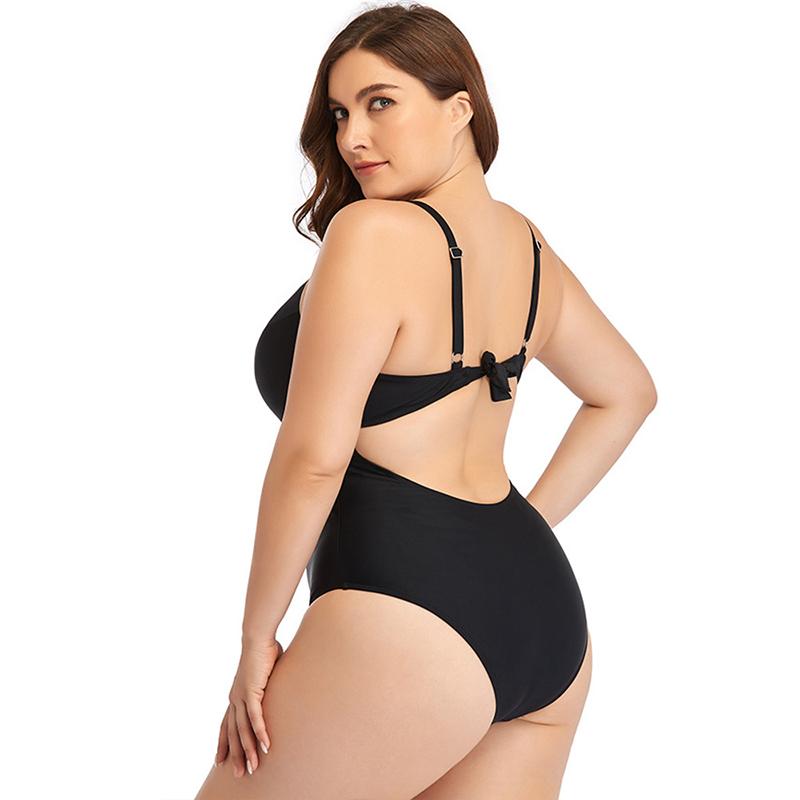 Plus Size Ladies Lace-Up Swimsuit One-Piece Bikini Swimwear Factory