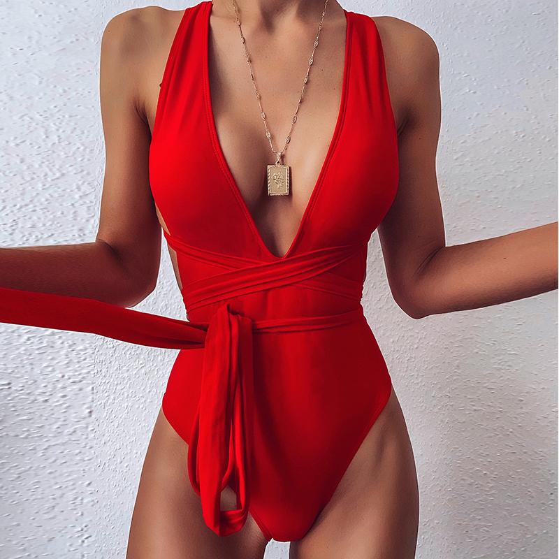 Egyrészes fürdőruha Ladies Bandage Ladies Swimwear monokini fürdőruhák nőknek