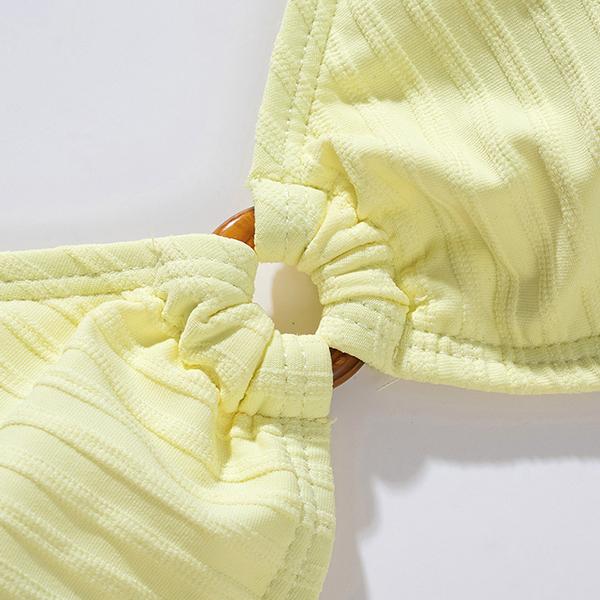 New 2021women Bikini Swimwear Wholesale Ribbed Swimwear 2-Piece Swimsuit Set Factory