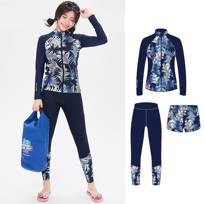 Athletic Tankini Swimsuits Long Sleeve Rash Guard Women Bathing Suits