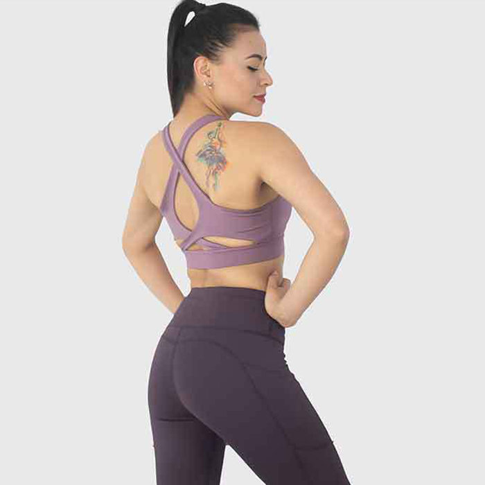 Women's Workout Sets 2 Pieces Suits High Waisted Yoga Leggings with Stretch Sports Bra Gym Clothes Factory