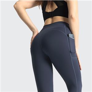 High Waist Yoga Pants Pocket Yoga Pants Tummy Control Workout Running 4 Way Stretch Yoga Leggings