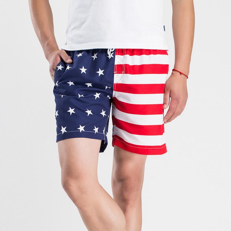 Mens Swimsuit Swim Trunks American Flag Camo Swimwear Swimming Surf Beach Shorts
