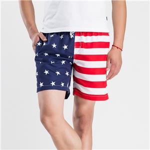 Мъжки бански костюми за бански Бански костюми с американско знаме Плувни къси панталони за сърф