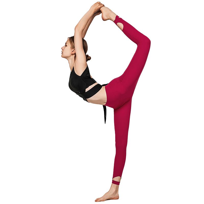 Egyedi nők 2 részes tornaterem fitnesz edzés fóliázás Ropa Deportiva egyszínű színű fűzős sportmelltartó Tik Tok leggings jóga szett