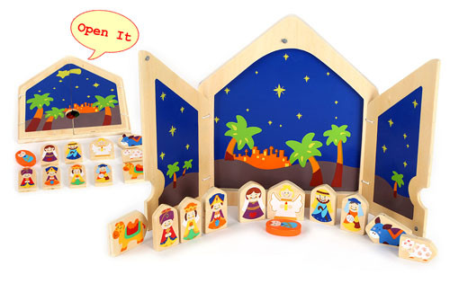 Wooden nativity set for kids Manufacturers, Wooden nativity set for kids Factory, Supply Wooden nativity set for kids