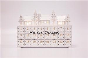 Natural finished wooden advent calendar