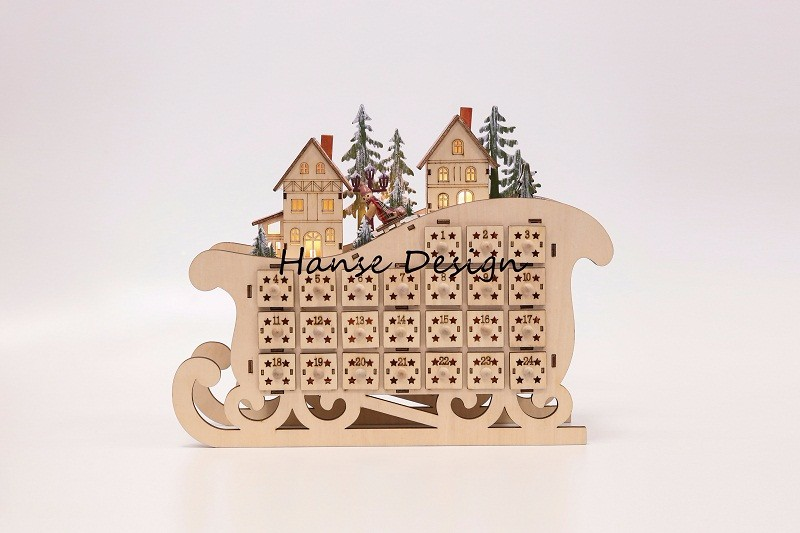 Natural finished wooden advent calendar Manufacturers, Natural finished wooden advent calendar Factory, Supply Natural finished wooden advent calendar
