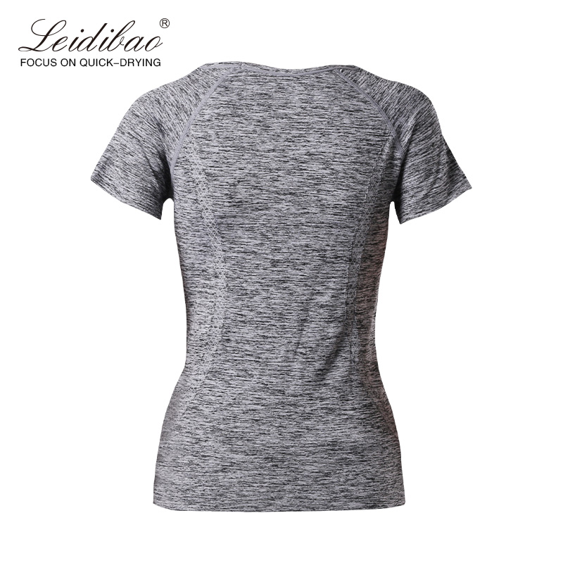 Brands Seamless Printed Dotted Fitness Shirt,Price printed arm sleeves,ladies fitness wear Producers