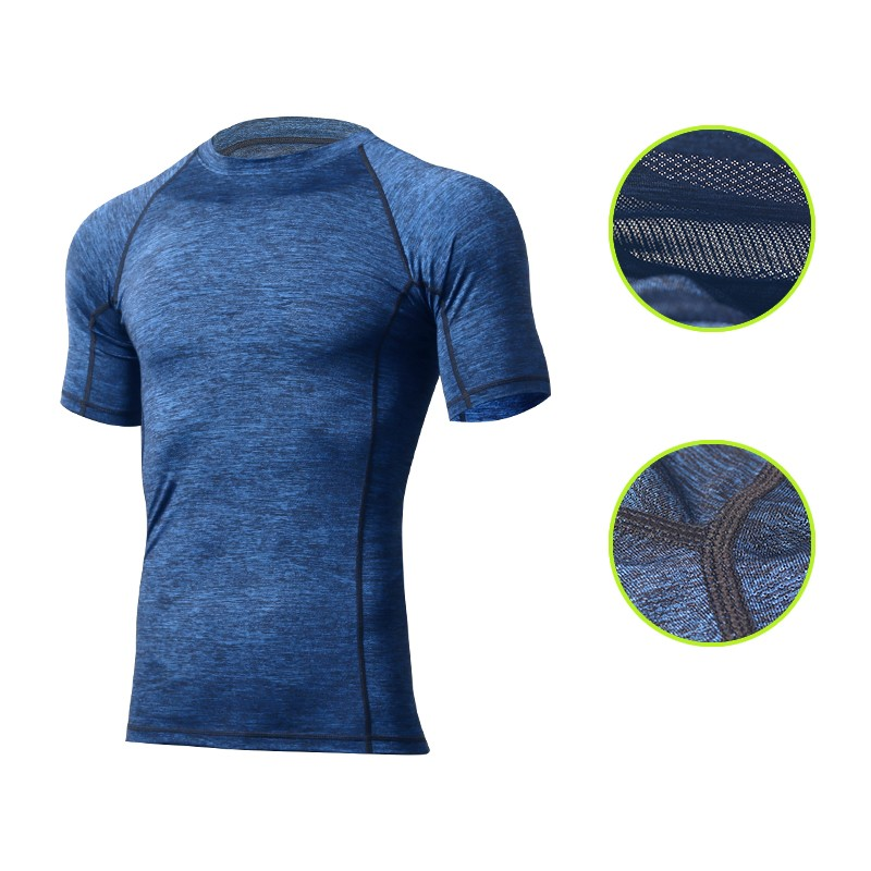 Summer polyester and spandex fast dry fit T shirts wholesale bulk gym sport t shirt in clothing manufacture