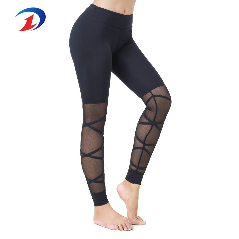 Custom Sports Mesh Fitness Yoga Byxor Kvinnor Leggings