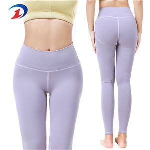 Fitness Fashion Ladies Athletic Clothing Full Support Purple Yoga Pants