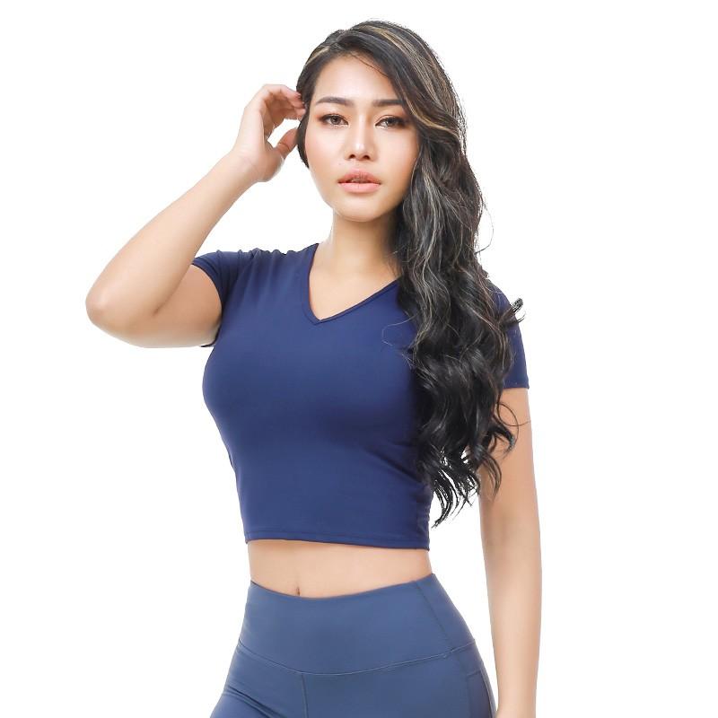 フィットネスウェア卸売体操服女の子Tシャツ女性ヨガトップ