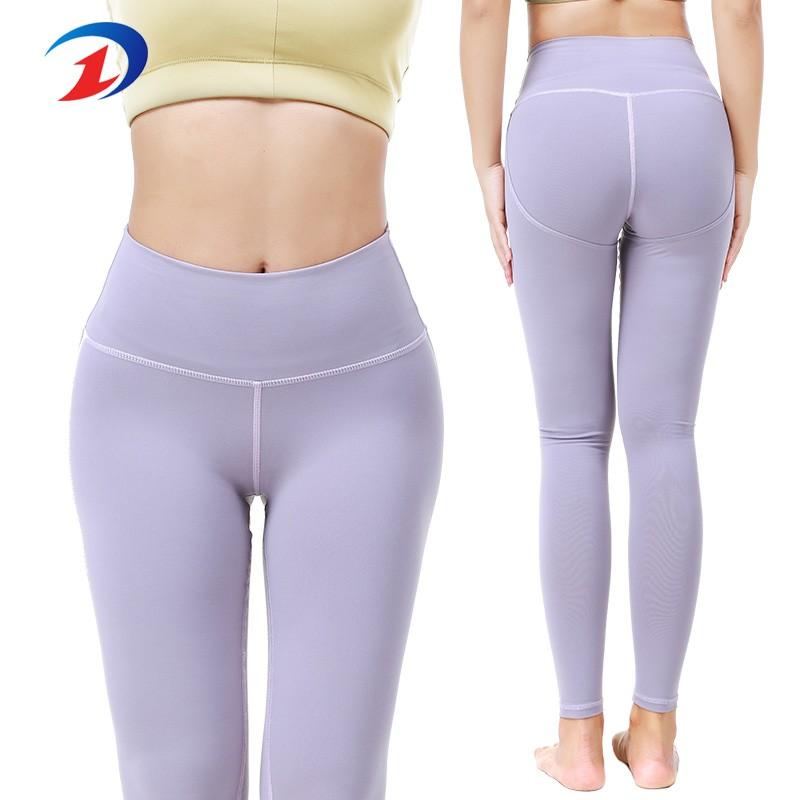 Personnalisation de gros de pantalons de yoga pour dames de haute qualité Nouveau design Femme Vêtements de sport Costumes Yoga Leggings