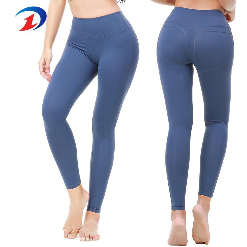 pantalons de yoga de haute qualité pour femmes filles sport bleu Leggings