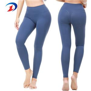 high quality women girls sports yoga pants blue Leggings