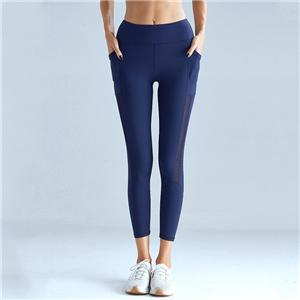 Blue Mesh Pants with Pocket Yoga Leggings
