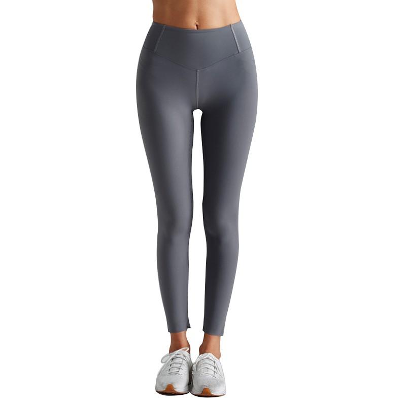 Plain Gray Yoga Pants Gym Fitness Lycra Leggings