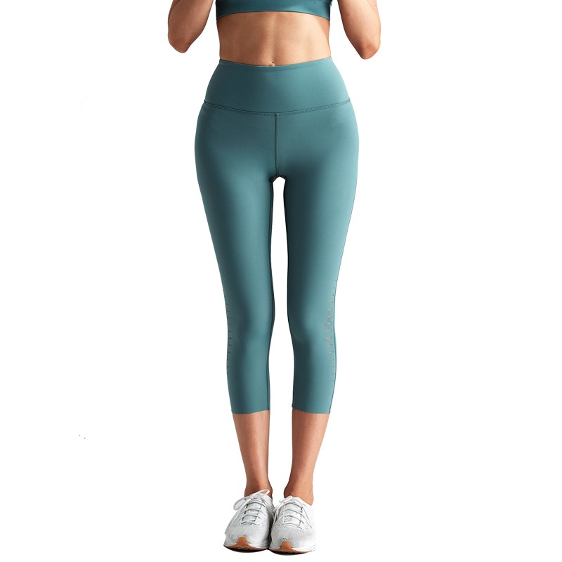 Nylon Spandex Active Workout Pants Yoga Capris
