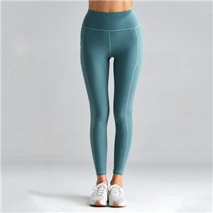 Compression High Rise Green Pocket Yoga Pants
