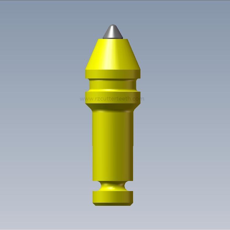 0.55インチ(14mm)丸型シャンクトレンチャービット円錐歯