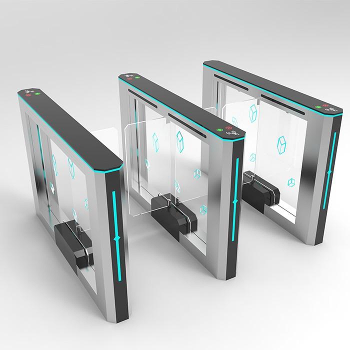Fingerprint, QR code ,Face recogintion CBD speed swing gate with servo motor