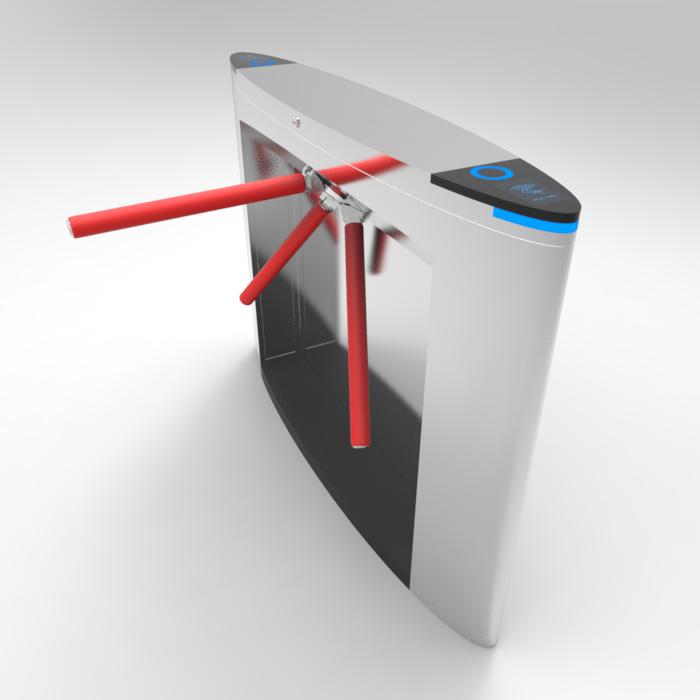 Tripod Turnstile Swipe RFID Card Access Facial Temperature Detector Half Height Turnstile