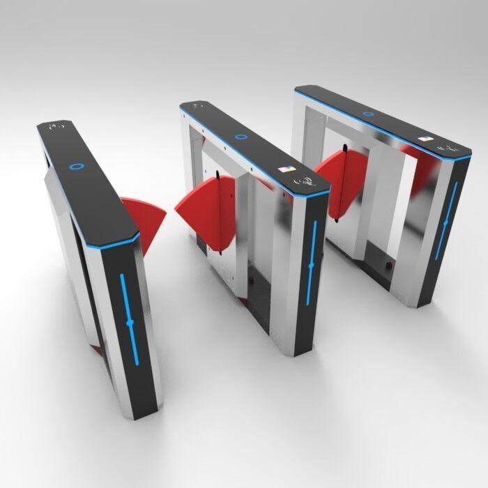 Slim Flap Barrier Gate Barcode Code Ticket System Soft Arm Patent design Gate