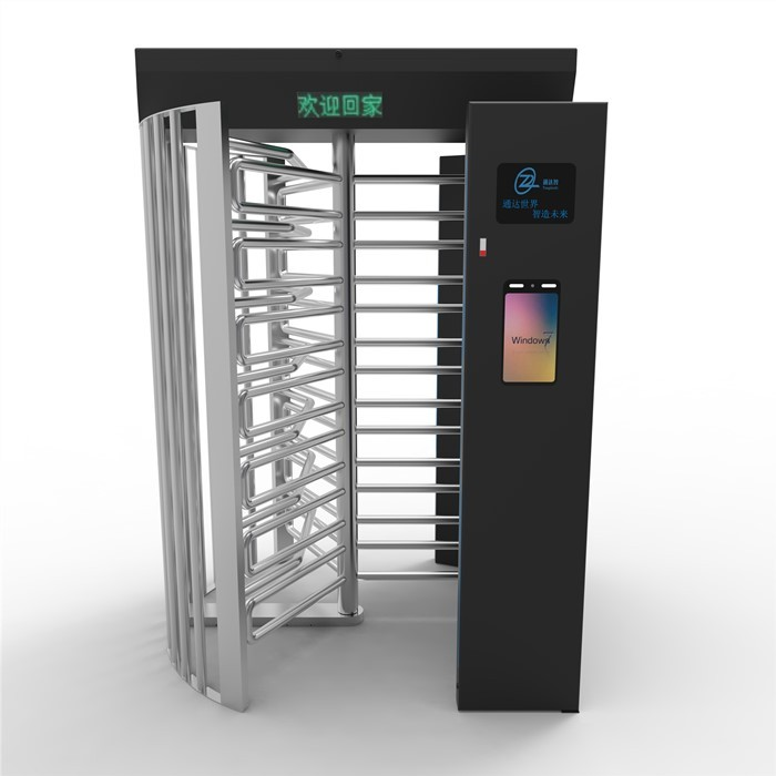 Special Communit# Stainless steel Full Height Turnstile semi automatic Access Control Security Gate