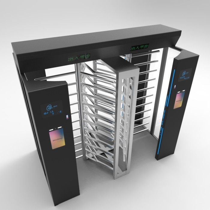 School station bidirectional Full Height Turnstile temperature Face Recognition outdoor
