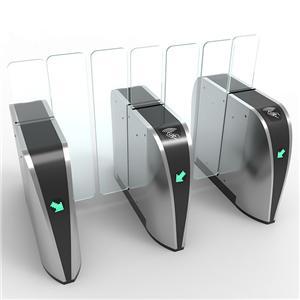 Office building high grade sliding flap gate face recognition access entrance sliding barrier